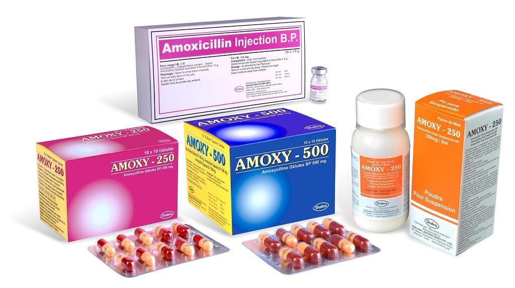 Amoxicilina en presentación jarabe y comprimidos