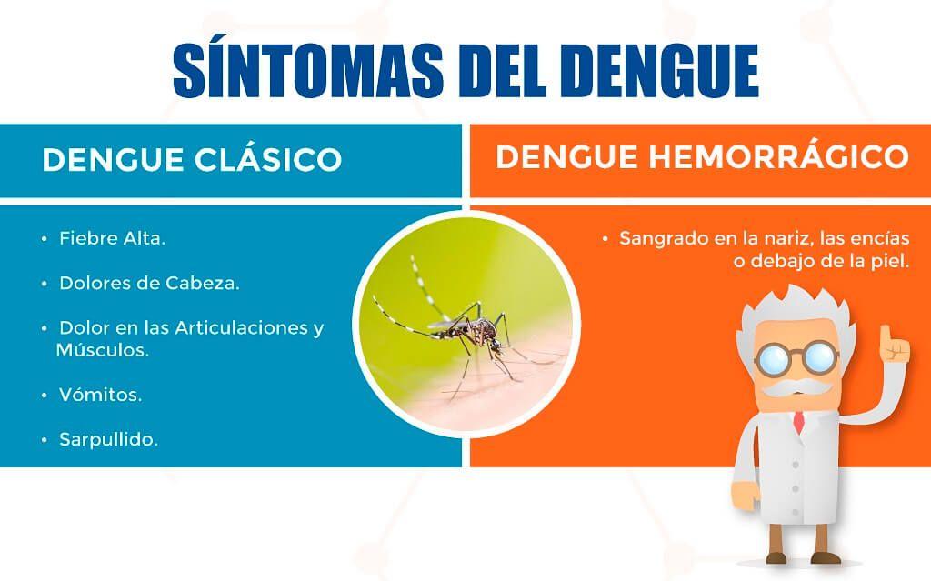 Síntomas del dengue vs. dengue hemorragico