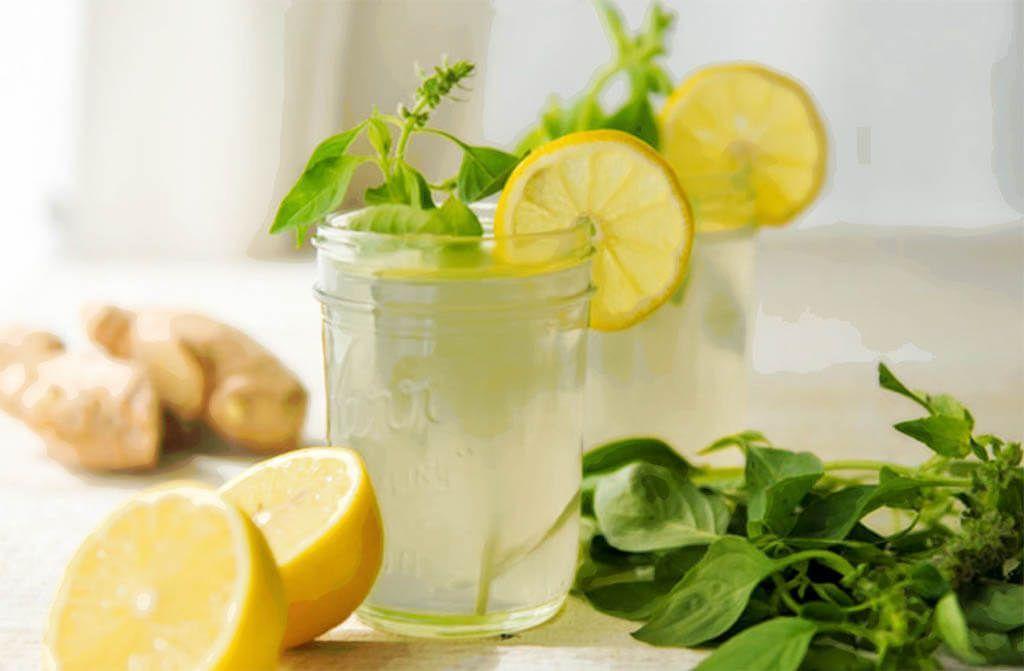 Infusión de limón y jengibre para adelgazar