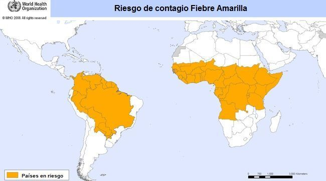 Mapa del Riesgo de Contagio Fiebre Amarilla