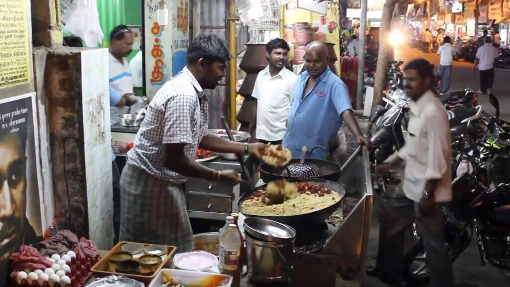 Tenga cuidado con la comida callejera en India