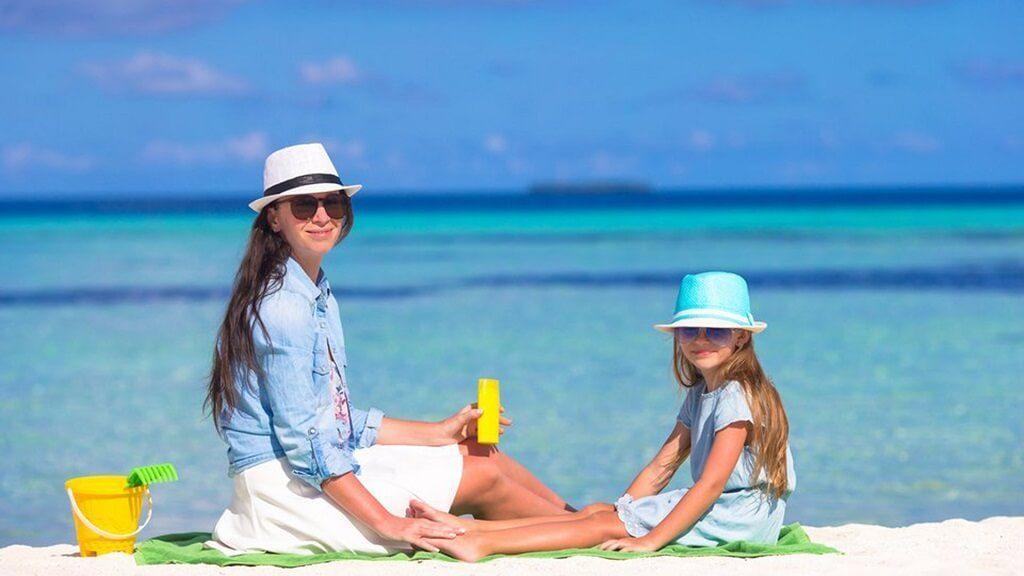 La importancia del protector solar en niños